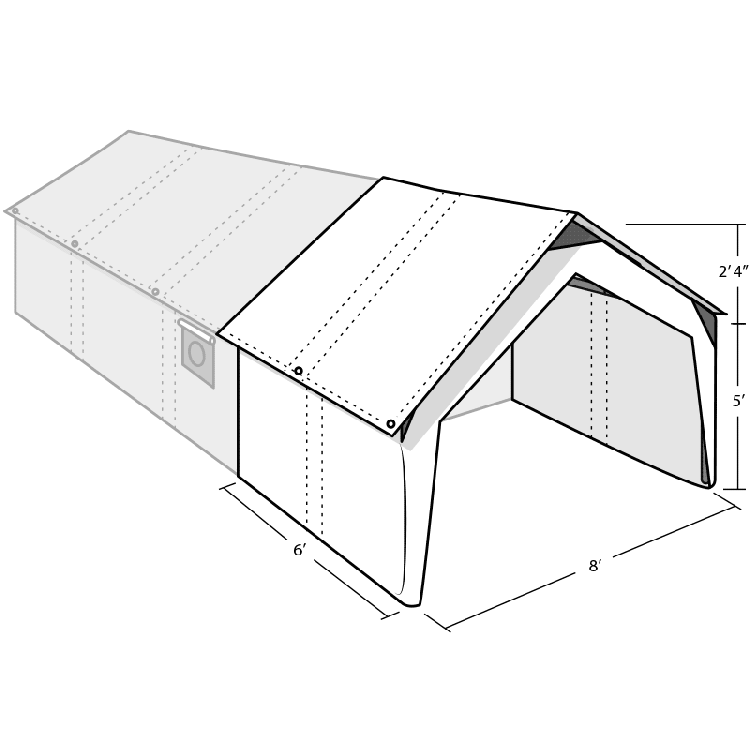 WALL TENT PORCH COVER