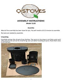 Downloadable PDF QSTOVE Assembly Instructions