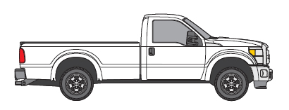 drawing of full size pick up truck