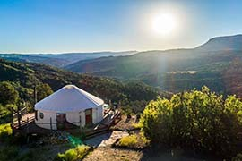 Zion Backcountry Yurt, Glendale, UT. This Rainier Outdoor Yurt Home is out and off the grid. Do It Yourself dwelling out in the middle.