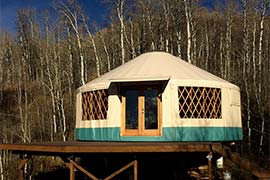 The Scott Sanctuary, 7000 foot altitude in Summit County, UT. Recreational yurt, Man Cave hut wood deck and with insulated sips flooring, Structural Insulated Floor Panels
